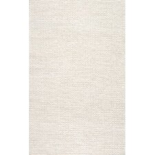 Textures Cable Chunky White Area Rug