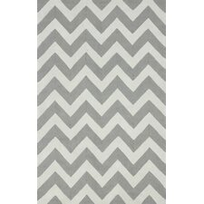 Homestead Soft Gray Meredith Chevron Area Rug
