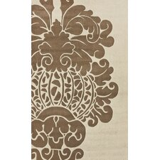Bella Modern Damask Neutral Rug