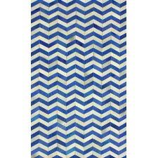 Hides Blue Waves Area Rug