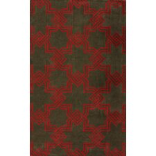 Gradient Brown/Red Carrey Area Rug