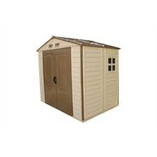 8 Ft. W x 5.5 Ft. D Vinyl Resin Storage Shed