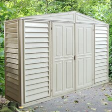 Woodbridge 10.5 Ft. W x 3 Ft. D Vinyl Resin Tool Shed