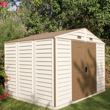 Woodside 10 1/2 ft. W x 8ft. D Vinyl Storage Shed