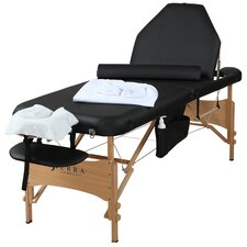 All-Inclusive Adjustable Back Rest Portable Massage Table