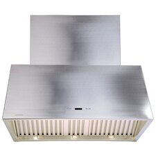 """42"""" 900 CFM Ductless Wall Mount Range Hood in Stainless Steel"""