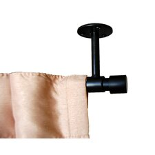 Verona Ceiling Mount Single Curtain Rod and Hardware Set