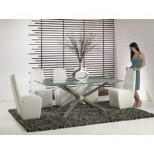 "44"" Mantis Crackle Glass Dining Table"