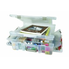 Super Satchel Deluxe in Translucent with One Compartment Lid / Divided Base