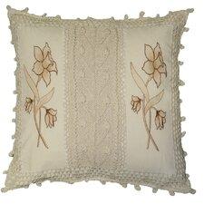 Braided Crochet Stripe/Floral Design Throw Pillow