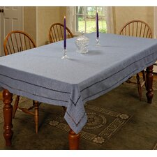 Hemstitch Embroidered Vintage Tablecloth