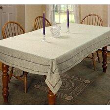 Hemstitch Embroidered Vintage Tablecloth