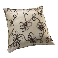 Venetian Vintage Embroidered Floral Design Decorative Throw Pillow