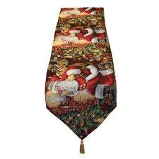 Seasonal Santa Claus Table Runner