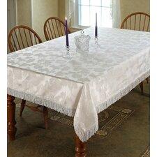 Classic Damask Design Fringes Tablecloth