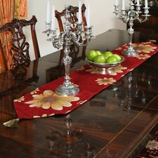 Chenille Floral Table Runner