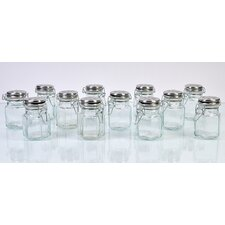 Hexagonal Spice Jar (Set of 12)