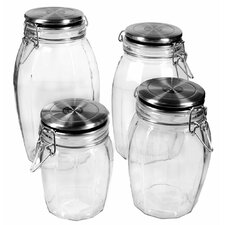 4 Piece Lock Tight Jar Set