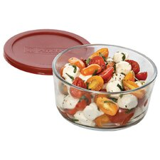 7 Cup Round Kitchen Storage Container with Lid (Set of 4)