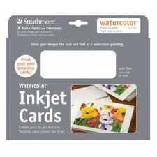Watercolor Inkjet Cards (Set of 8)