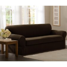 Pixel Stretch 2 Piece Loveseat T-Cushion Slipcover