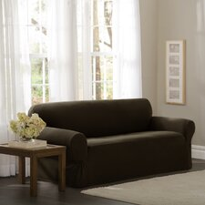 Pixel Stretch 1 Piece Sofa Box Cushion Slipcover