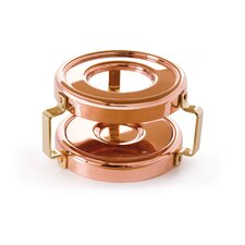M'heritage Cuprinox Heater With Candle for Small Saucepan