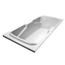 "72"" x 36"" Soaker Arm-Rest Bathtub"