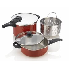 Cayenne Pressure Cooker 5-Piece Cookware Set