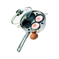 Resto Egg Poacher & Gourmet Pan Set in Stainless Steel