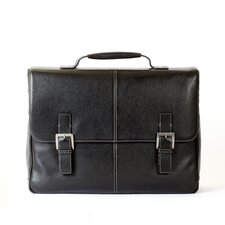 Tyler Tumbled Leather Laptop Briefcase