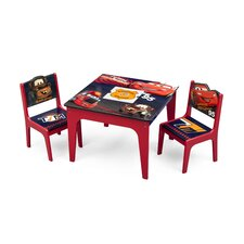 Cars Kids 3 Piece Table and Chair Set