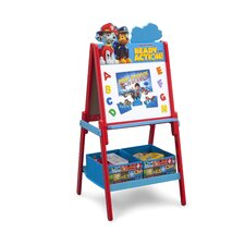 Paw Patrol Wooden Double Sided Activity Easel with Storage