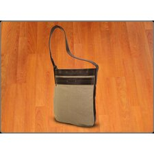 Mat Sleeve Messenger Bag in Natural / Brown