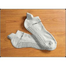 ExerSock Medium Yoga and Pilates Socks in Gray (3-Pack)