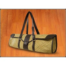 St.Tropez Yoga Bag in Natural with Brown Leather Trim