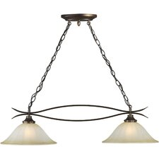 Two Light Island Pendant in Antique Bronze