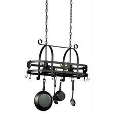 Pot Racks Hanging Kitchen Island with 2 Light Pendant