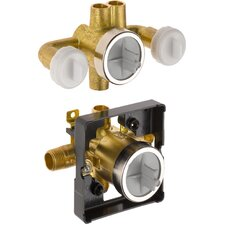 Universal Mixing Rough-In Valve with Service Stops