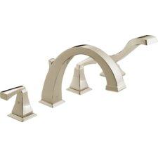 Dryden Triple Handle Deck Mount Roman Tub with Hand Shower Trim