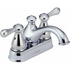 Leland Centerset Bathroom Faucet with Double Lever Handles
