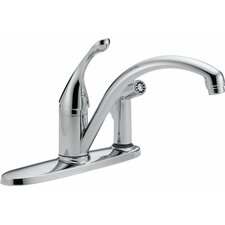 Collins Single Handle Centerset Touch Clean Kitchen Faucet with Spray