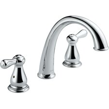 Leland Double Handle Deck Mount Roman Tub Faucet Trim