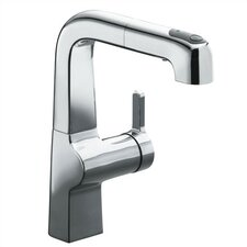 "Evoke Single-Hole Kitchen Sink Faucet with 8"" Pullout Spout"