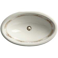 Pheasant Design On Vintage Undermount Bathroom Sink