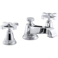 Pinstripe Pure Widespread Bathroom Sink Faucet with Cross Handles