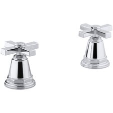 Pinstripe Pure Deck-Mount High-Flow Bath Valve Trim with Cross Handles, Handles Only, Valve Not Included