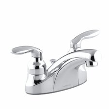 Coralais Centerset Bathroom Sink Faucet with Lever Handles and Pop-Up Drain