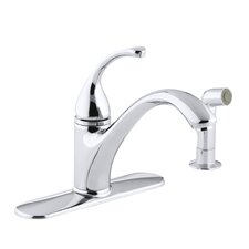 "Forté 4-Hole Kitchen Sink Faucet with 9-1/16"" Spout, Matching Finish Sidespray"