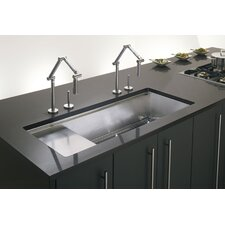 """Stages 45"""" x 18-1/2"""" x 9-13/16"""" Undermount Single-Bowl with Wet Surface Area Kitchen Sink"""